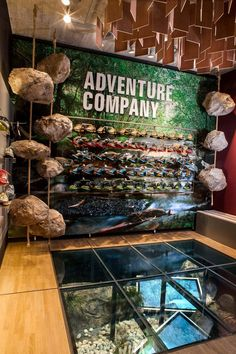 ADCO outdoor store by KULTOBJEKT Freiburg Germany 02 Love the glass floor so it looks like you're walking on something. Outdoor Adventure Store, Design Commercial, Store Layout, Outdoor Store, Retail Interior, Back To Nature, Retail Shop, Retail Design, Visual Merchandising