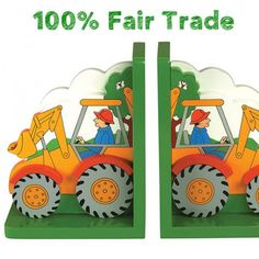 Digger Children's Bookends | When I Was a Kid