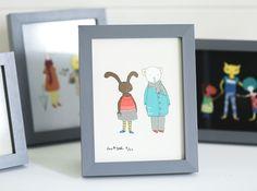SasandYosh-ArtPrint-Bunny and Bear-1