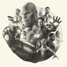 Drawing Marvel Comics Avengers Infinity War Pencil Art working process by yinyuming - Drawing Cartoon Characters, Character Drawing, Marvel Characters, Cartoon Drawings, Avengers Drawings, Avengers Tattoo, Marvel Tattoos, Marvel Avengers, Marvel Art