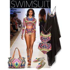Swimsuit trend by cruzeirodotejo on Polyvore featuring Mara Hoffman, swimwear, summerstyle, beachwear, trendybathingsuit and sandandsea