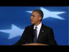 """Closing the deal because of us we made the change.  """"Michelle... a few nights ago, everybody was reminded just what a lucky man I am.""""  """"... times have changed and so have I.  I am no longer just a candidate, I am the President."""" - President Barack Obama DNC 2012"""