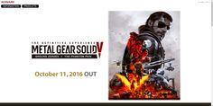 Konami Digital Entertainment B.V. today releases METAL GEAR SOLID V: THE DEFINITIVE EXPERIENCE.