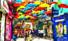 Ireland, Digital Art, City, Cities, Irish