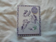 Stamped with Distress Ink and water brush Water Brush, Penny Black, Distress Ink, I Card, Poppies, Stamp, Happy, Books, Handmade