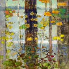 "Rick Stevens Art: Lakeshore Motif | oil on canvas | 32 x 32"" | 2013 website"