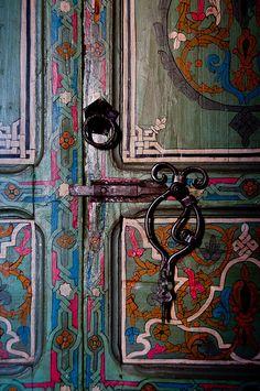 Gypsy Interior Design Dress My Wagon| Serafini Amelia| Design Inspiration-Door Lock Detail