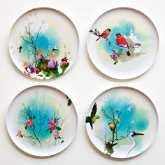 Birds of Feather Plate Set