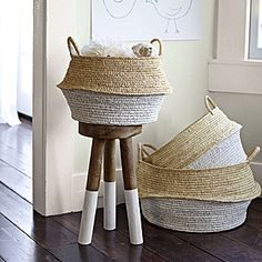 baskets to paint