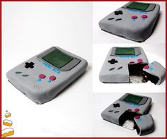 Made this Game Boy birthday cake all fondant Cakes Ive made