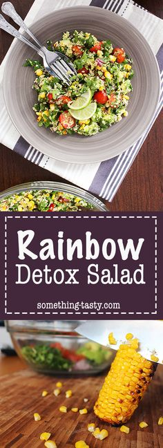 A light, healthy and glowing salad with the most delicious sweet, yet citrus salad dressing! From Something Tasty Fresh Lime Juice, Fresh Mint, Detox Recipes, Salad Recipes, Clean Eating, Healthy Eating, Detox Salad, Salad Dressing, Cherry Tomatoes