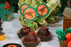 Volcano Chocolates from this Dino themed birthday party with lots of really fun ideas via Kara's Party Ideas Kara Allen KarasPartyIdeas.com #dinosaurparty #dinosaurcake ...