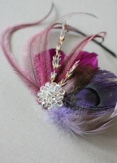 FASCINATOR Diy Hair Accessories, Fashion Accessories, Fascinator Headband, Feather Headband, Hair Jewels, Millinery Hats, Diy Hat, Hair Brained, Derby Hats