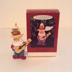Hallmark Keepsake Santa's Serenade Cowboy Guitar Christmas Tree Ornament