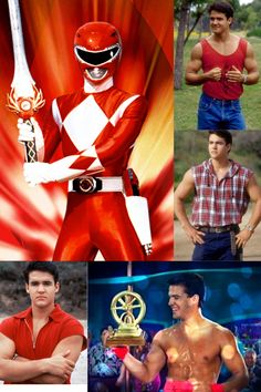 Mighty Morphin Red Ranger/Jason Lee Scott played by Austin St. John (a.k.a. Jason Geiger)