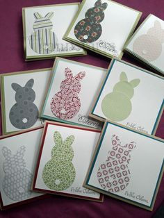 Easter cards - you can make these beautiful Easter bunnies out of the remains of wallpaper - Easter cards – you can make these beautiful Easter bunnies out of the remains of wallpaper - Easter Art, Hoppy Easter, Easter Crafts For Kids, Easter Bunny, Paper Cards, Diy Cards, Cards For Men, Diy Easter Cards, Holiday Cards