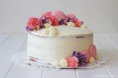Vanilla Naked Cake with Mascarpone and Raspberries / Vanilkový dort s mascarpone a malinami | Na vidličku food blog