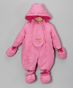 Another great find on #zulily! Pink Double-Zipper Snowsuit - Infant by fourcast #zulilyfinds