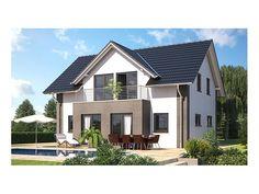 Fassade und Dachform Die Verkleidung aus Lärchenholz und die ...