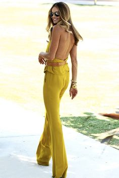 Jump suit again, but fussier and in sunshine tones x