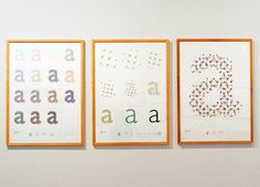 Embroidered CMYK Typography by Evelin Kasikov typography printing posters and prints embroidery