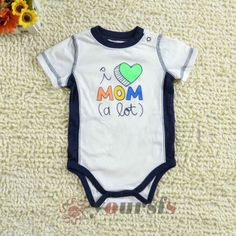 3M-6M-9M-Infant-Toddler-Rompers-Darling-MOM-Printed-White-Short-Sleeve-Bodysuits
