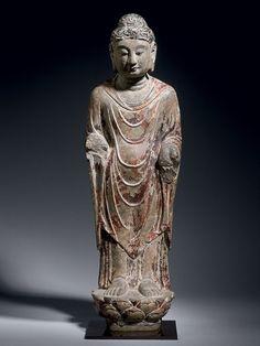 Limestone Sculpture of the Buddha - Ben Janssens Oriental Art