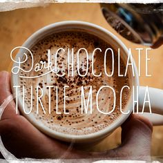 HAPPY NATIONAL COFFEE DAY. Dark chocolate turtle mocha