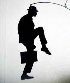 Ministry of Silly Walks inspired mobile by SaltyandSweet on Etsy, $36.00