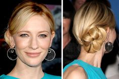 Cate Blanchett's red carpet bun.
