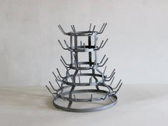 French Vintage Bottle Drying Rack. Herisson. by LePasseRecompose