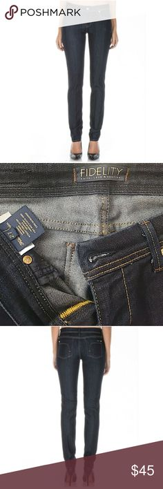 """Fidelity Scoop Viper Rise Jeans - like new Keep it classic in Fidelity straight leg jeans. Straight from the calf down, this traditional fit has been updated with a modern twist, featuring a low rise and contoured waistband. Excellent Condition means: • No pilling • No fading • No stains • No holes, rips, or tears • No bleeding.  Handcrafted in Los Angeles Rise: 8.5""""  Leg opening: 12""""  Inseam: 31""""  Care Instructions: Hand wash cold, no bleach. Tumble dry low or lay flat to dry. Fidelity…"""