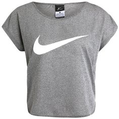 Nike Performance CITY Print T-shirt ($54) ❤ liked on Polyvore featuring tops, t-shirts, grey t shirt, print tees, print t shirts, gray t shirt and patterned tops