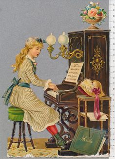 Girl playing piano by Cilla in Sweden, via Flickr