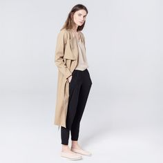 Wave Trench Beige Trench, Duster Coat, Waves, Beige, Cotton, Jackets, Fashion, Moda, Fasion