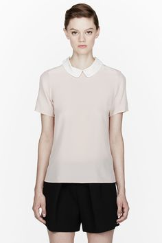 Marc By Marc Jacobs Pink Silk Crepe Alex Blouse Pinned by Templates-help.com