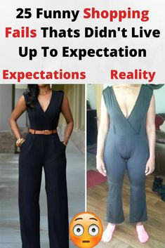 Buying stuff online is easy and fun, and most of the time we get exactly what we paid for. Unfortunately, sometimes our purchases don't go as smoothly as we'd Funny Shopping Fails Thats Didn't Live Up To Expectation Online Shopping Fails, People Shopping, Celebs, Celebrities, Cool Photos, Hilarious, Fun Funny, Funny Stuff, Jumpsuit
