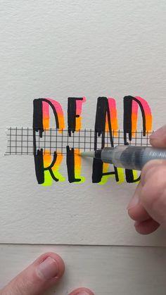 Bullet Journal Lettering Ideas, Bullet Journal Writing, Bullet Journal Layout, Bullet Journal Ideas Pages, Hand Lettering Art, Hand Lettering Tutorial, Creative Lettering, Art Drawings Sketches Simple, Easy Drawings
