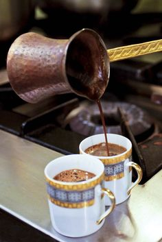 A coffee fanatic's ultimate world tour - Lonely Planet - Turkish coffee is steeped in tradition © Danita Delimont / Getty Images - Best Coffee, My Coffee, Coffee Drinks, Coffee Cups, Coffee Dripper, Black Coffee, Coffee Time, Tea Time, Coffee Maker
