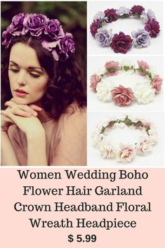 Determining Who Wears Flowers At Wedding For The Best Planning – Bridezilla Flowers Flower Hair, Flowers In Hair, Boho Wedding, Wedding Flowers, Hair Garland, Material Flowers, Beach Flowers, Corsage Wedding, Crown Headband