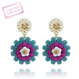 Jardin Majorelle Post Drop Earrings | RMCJEWELRY #rmcjewelry #shoponline #chloeandisabel #shoprmc