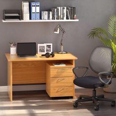 SOHO Home Office Bundle Includes Desk, Pedestal and Mesh Chair Under Desk Storage, Mobile Pedestal, Mesh Chair, Wooden Drawers, Adjustable Desk, Office Seating, Soho House, White Desks, Work Desk
