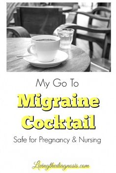 """Natural Headache Remedies Have you heard the term """"migraine cocktail""""? Here is my go to concoction that is safe for pregnancy and nursing. Migraine Pain, Chronic Migraines, Migraine Relief, Pain Relief, Migraine Diet, Headache Relief Pregnancy, Fibromyalgia, Chronic Illness, Health And Fitness"""