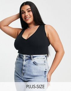 Simply Be sleeveless bodysuit in black. #simplybe #plussize #plussizefashion Plus Size Bodies, Curvy Plus Size, Plus Size Girls, Asos, Body Negro, Plus Size Beauty, Silhouette, Plus Size Fashion, Your Style
