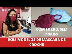 Veja como fazer máscara de crochê para proteção da boca e nariz, além de gráficos e videos ensinando passo a passo modelo infantil e adulto. Crochet Case, Free Crochet, Free Pattern, Cross Stitch, About Me Blog, Knitting, Youtube, Handmade, Macrame