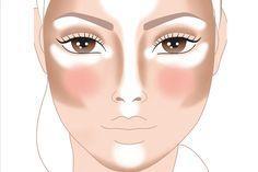 contouring rostro cuadrado - Buscar con Google