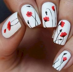 9. These pretty poppies look great on a white base.