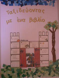 αφίσα, επιτραπέζιο,αυτοσχεδιασμός  κ.ά. για πρόγραμμα φιλαναγνωσίας September Crafts, Books To Read, Reading Books, Olympus Digital Camera, Bookmarks, Fairy Tales, Classroom, Education, Learning