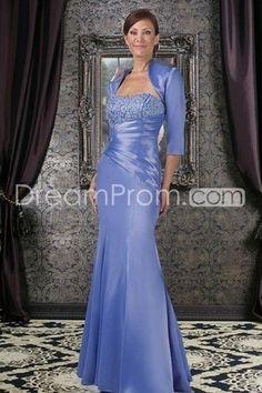 Strapless Floor Length Blue Mother Of The Bride Dresses Under 200