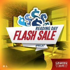 Reading Day Flash Sale #brandedgraphic designed for our client in #Pittsburgh! #studenthousing #socialmedia #marketing